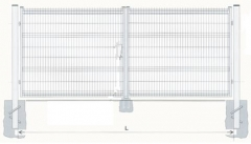 Varstomi vartai cinkuoti 1500x5000 (užpildas-segmentas) dažyti Vartai