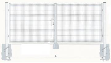 Varstomi vartai karštai cinkuoti 1800x6000 (užpildas-segmentas) dažyti Vārteja
