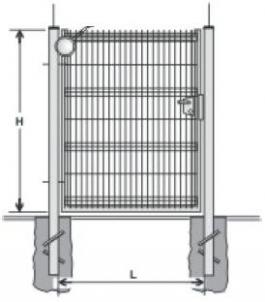 Hot dipped galvanized Swing Gates (single leaf) 1400x1000 (filler-segment)