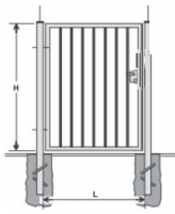 Hot dipped galvanized Swing Gates (single leaf) 1400x1000 (filler-slugs)