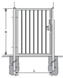 Hot dipped galvanized Swing Gates (single leaf) 1800x1000 (filler-slugs)
