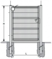 Hot dipped galvanized Swing Gates (single leaf) 2000x1000 (filler-segment) painted