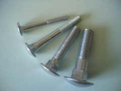 Bolts DIN 603 M 6 x 50 Zn 6psv Bolts din 603, galvanized (increase. pusapv. puzzle., square pakakliu)