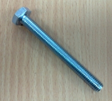Varžtas DIN933 8,8kl. 12x100-Zn Bolts din 933 8.8 kl., galvanized (full thread)