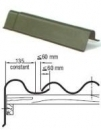 Vėjalentė 'S' formos 1620x200x240 mm 'Eternit' vyšninė The slate component beasbestiniam