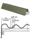 Vėjalentė 'S' formos 1620x200x240 mm 'Eternit' žalia The slate component beasbestiniam