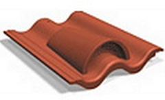 Ventilation tile double-S Concrete roof tiles