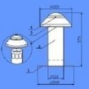 Ventiliaciniai kaminėliai D90 Prilydomos bituminės dangos
