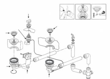 Ventilis FRANKE plautuvės LIX 651, MOX 651, MOX 660, EFX 651-78, d 3''1/2, ekscentrinis Tops, sithonia