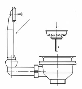 Ventilis FRANKE plautuvės ROL 610-41, d 3''1/2, užkemšamas Trapai, sifonai