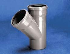Vidaus kanalizacijos trišakis WAVIN OPTIMA, d 50-50, 45* Vidaus nuotekų trišakiai