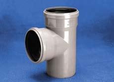 Vidaus kanalizacijos trišakis WAVIN OPTIMA, d 50-50, 88* Vidaus nuotekų trišakiai