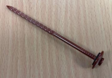 Vinis šiferinė su tarpine 4,0x110 (vyšninė) Slated nails, galvanized