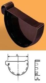 WAVIN Latako dangtelis išorinis 130 mm (kairinis) RAL9017 (juoda)