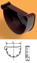 WAVIN Latako dangtelis vidinis 100 mm (kairinis) RAL7016 (grafitinė) Duct covers