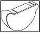 WAVIN Latako dangtelis vidinis (dešininis)160 mm (rudas) Duct covers