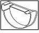 WAVIN Latako dangtelis vidinis (kairinis)100 mm (baltas) Duct covers