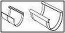 WAVIN Latako jungtis su įdėklu 100 mm (juoda) Latakų jungtys
