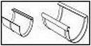 WAVIN Latako jungtis su įdėklu 130 mm (raudona) Latakų jungtys