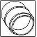 WAVIN lietvamzdžio jungtis 75 mm (balta)