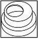 WAVIN perėjimas mova-mova 110/90 mm (baltas)