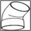 WAVIN vienos movos alkūnė 75/67 laipsnių (balta)