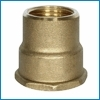 Žalvarinė pereinama mova, d 1''-3/4'', vidus-vidus Žalvarinės uncoated couplings