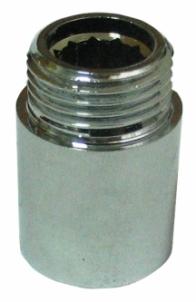 Žalvarinis chromuotas pailginimas VIEGA, d 1/2'', 40 mm. Brass chrome transitions