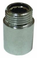 Žalvarinis chromuotas pailginimas VIEGA, d 1/2'', 40 mm.