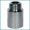 Žalvarinis chromuotas pailginimas, d 1/2'', 40 mm
