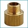 Žalvarinis perėjimas, d 1/2''-3/4'', išorė-vidus Brass plated transitions