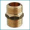 Žalvarinis sujungimas, d 1/2'', išorė-išorė Žalvariniai nepadengti nipeliai
