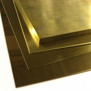 Barss plate L63 0.25x300 Brass