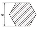 Žalvario šešiakampis LS D19 Žalvaris