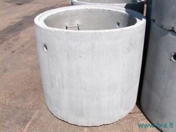Žiedas šulinių Ž 7-10-0,8 DU Šulinių žiedai betoniniai/ gelžbetoniniai, dangčiai
