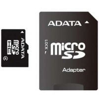 A-DATA 16GB microSDHC Card (Class 4) with 1 Adapter, retail Flash atmintinės