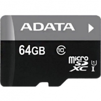 A-DATA 64GB Premier microSDHC UHS-I U1 Card (Class10) Retail Flash atmintinės