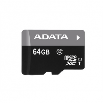 A-DATA 64GB Premier microSDHC UHS-I U1 Card (Class10) with adapter Retail