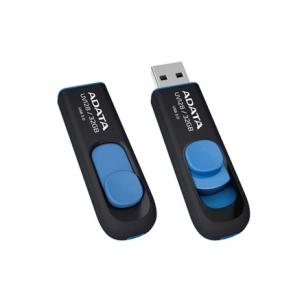 A-DATA DashDrive UV128 16GB Black+Blue USB 3.0 Flash Drive, Retail Flash atmintinės