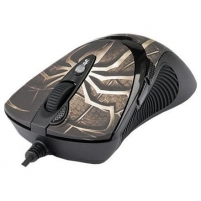 A4Tech mouse XL-747H Laser Anti-Vibrate Gaming (Brown spider), 3600 dpi, LED color indicator, 64K memory, USB Mouse