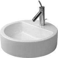 Above counter basin 48 cm Starck 1white, w.overf