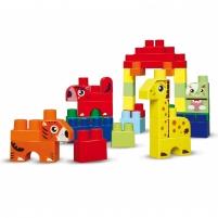 Abrick kaladėlių rinkinys mėlynoje dėžeje 50 vnt | Ecoiffier Kaladėlės ir statybos žaislai