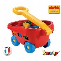 Abrick kaladėlių rinkinys raudoname vežimėlyje 60 vnt | Ecoiffier Kaladėlės ir statybos žaislai