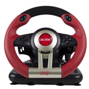 ACME žaidimų vairas RS /PC-USB /Vibravimo funkcija/pedalai kojoms