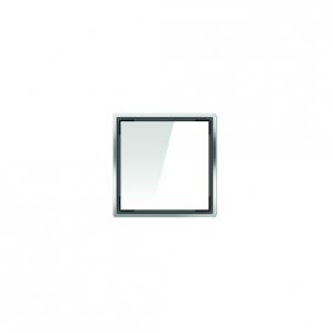Aco kvadratinės stiklo grotelės, baltos