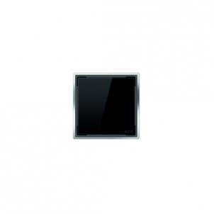 Aco kvadratinės stiklo grotelės, juodos