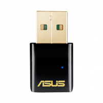 Adapteris ASUS USB-AC51 802.11 ac Dual-Band adapter Wireless-AC600, USB 2.0, 5GHz/2.4GHz for up to 433Mbps