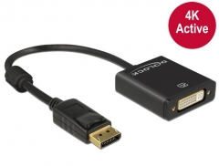 Adapteris Delock Adapter Displayport 1.2 male > DVI female 4K Active black