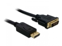 Adapteris Delock kabelis Displayport (M)-> DVI-I(M)24+1PIN 3m gold
