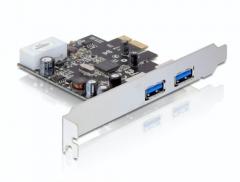 Adapteris Delock plokštė pci express -> 2x USB 3.0 + sliaustas LOW PROFILE